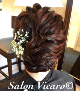 Updo by Stylist Becky Pereira